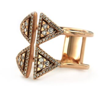Rose gold ring with diamonds 37299 01