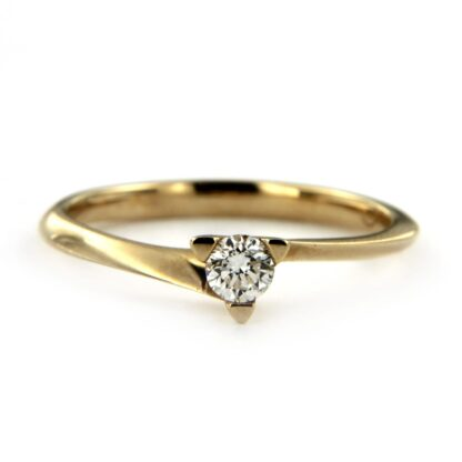 Yellow gold ring with diamond 38698 01