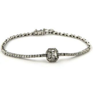 White gold bracelet with diamonds 42400 01
