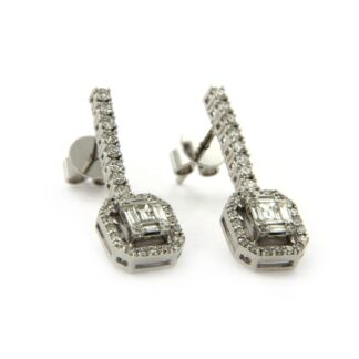White gold earrings with diamonds 42405 01