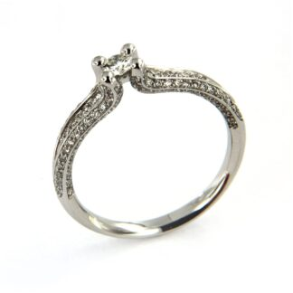 White gold ring with diamonds 42800 01
