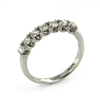 White gold ring with diamonds 42801 01