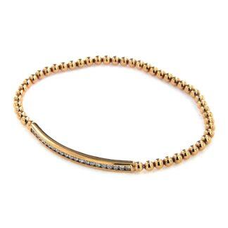 Rosé gold bracelet with diamonds 43540 01