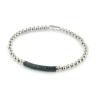 White gold bracelet with diamonds 43541 01