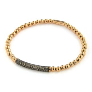 Rosé gold bracelet with diamonds 43542 01