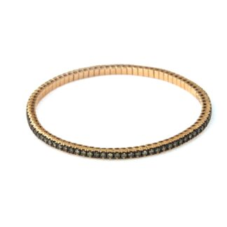 Flexible rosé gold bracelet with diamonds 43575 01