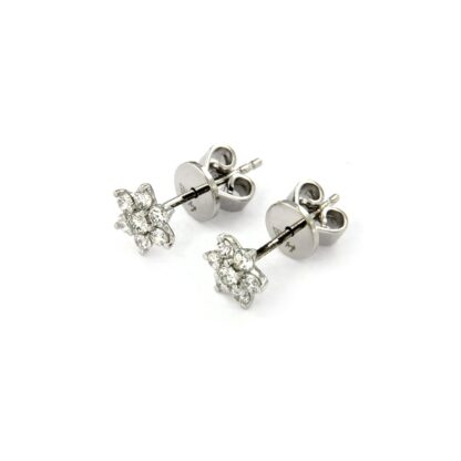 White gold earrings with diamonds 43596 01