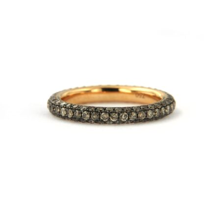 Yellow gold ring with diamonds 43608 01
