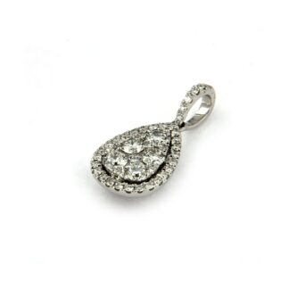 White gold necklace with white gold pendant and diamonds 43616 01
