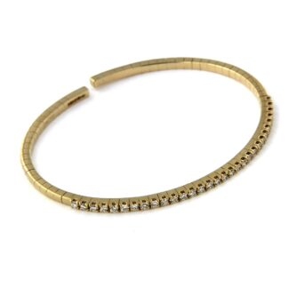 Yellow gold bracelet with diamonds 43617 01