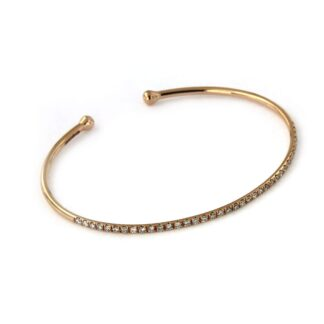 Rosé gold bracelet with diamonds 43619 01