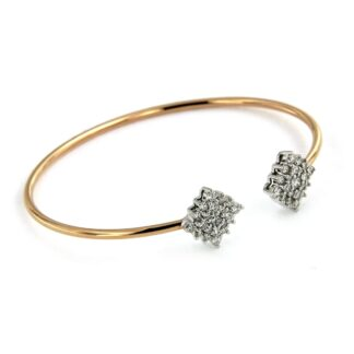 Rosé gold bracelet with diamonds 43620 01
