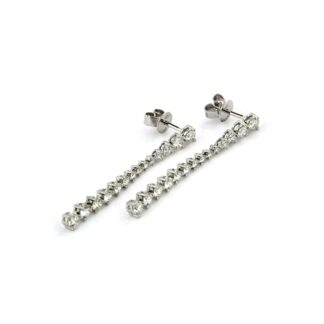 White gold earrings with diamonds 43629 01