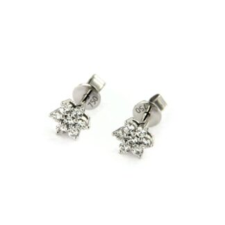 White gold earrings with diamonds 43752 01