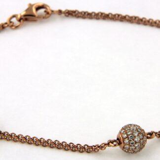 Rosé gold bracelet with diamonds 43755 01