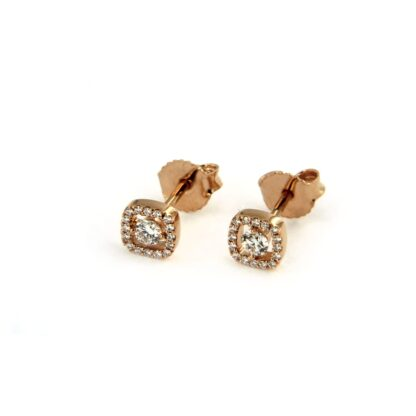 Rosé gold earrings with diamonds 43758 01