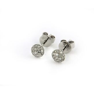 White gold earrings with diamonds 43759 01