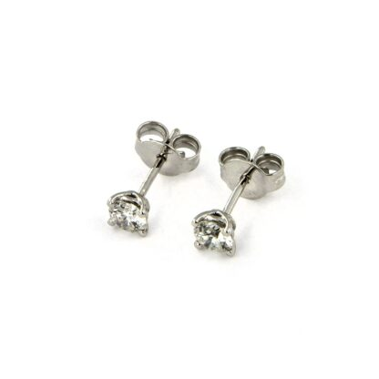 White gold earrings with diamonds 43763 01