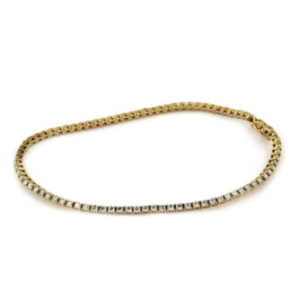 Yellow gold bracelet with diamonds 43834 01