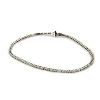 White gold bracelet with diamonds 43835 01