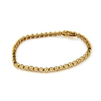Yellow gold bracelet with diamonds 43836 01
