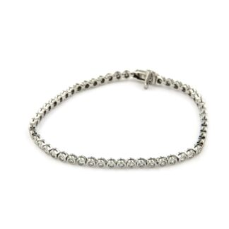White gold bracelet with diamonds 43837 01