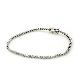 White gold bracelet with diamonds 43839 01