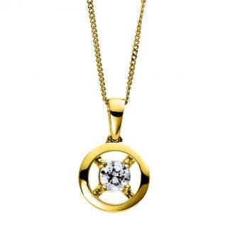 9 kt sárga arany nyaklánc 1 gyémánttal 4D254G9-1