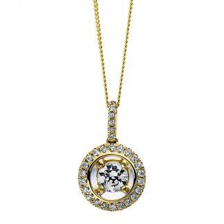 9 kt sárga arany nyaklánc 29 gyémánttal 4D265G9-1