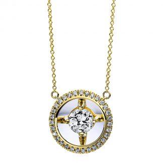 9 kt sárga arany nyaklánc 32 gyémánttal 4D266G9-1