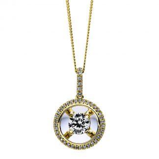 9 kt sárga arany nyaklánc 42 gyémánttal 4D262G9-1