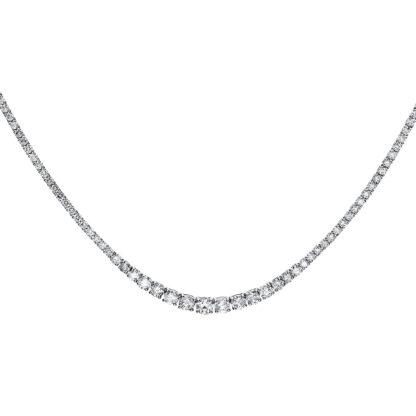 14 kt fehérarany nyaklánc 184 gyémánttal 4F517W4-1