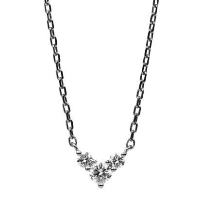14 kt fehérarany nyaklánc 3 gyémánttal 4B524W4-1