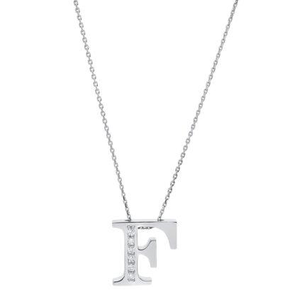 14 kt fehérarany nyaklánc 6 gyémánttal 4A433W4-1