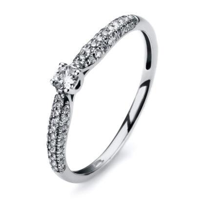 14 kt fehérarany szoliter oldalkövekkel 59 gyémánttal 1A312W453-1