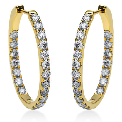 14 kt sárga arany karika és huggie 38 gyémánttal 2I836G4-1
