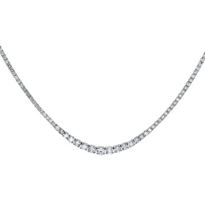 14 kt white gold necklace with 184 diamonds 4F517W4-1