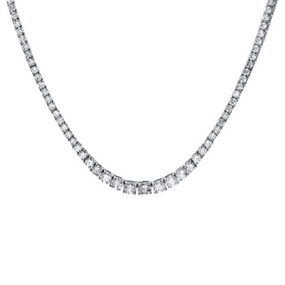 14 kt white gold necklace with 185 diamonds 4F449W4-1