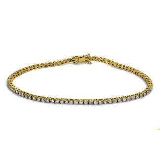 14 kt yellow gold bracelet with 84 diamonds 5B135G4-1