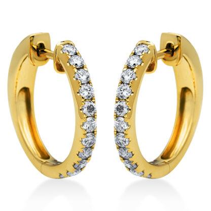 14 kt yellow gold hoops & huggies with 22 diamonds 2G831G4-2