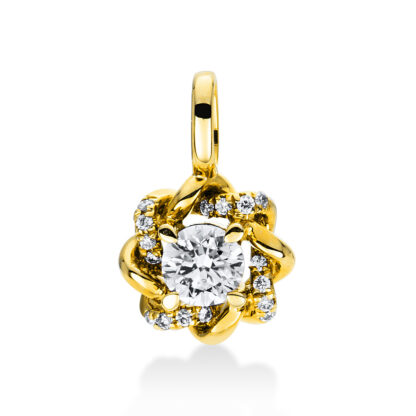 14 kt yellow gold pendant with 17 diamonds 3D948G4-1