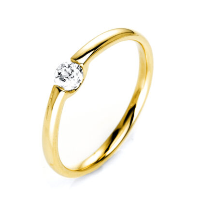 14 kt yellow gold solitaire with 1 diamond 1J083G454-2