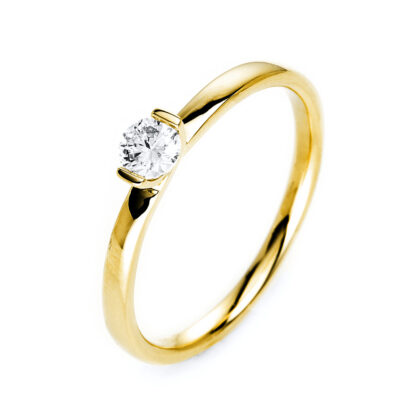 14 kt yellow gold solitaire with 1 diamond 1J087G454-1