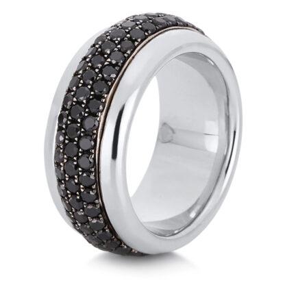 18 kt fehérarany forgatható gyűrű 120 gyémánttal 1A762W852-1