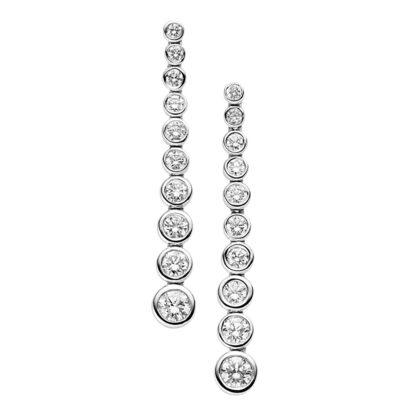 18 kt fehérarany fülbevaló 20 gyémánttal 2B512W8-3