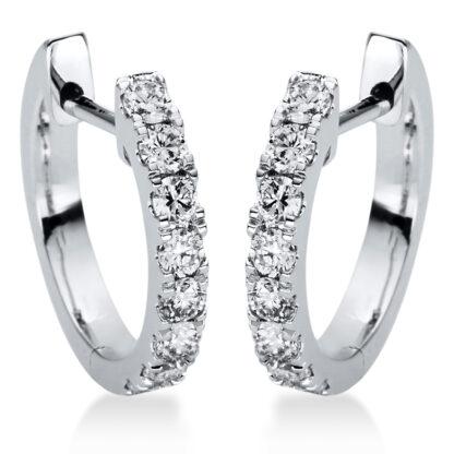 18 kt fehérarany karika és huggie 16 gyémánttal 2I882W8-1