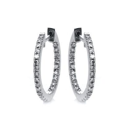 18 kt fehérarany karika és huggie 50 gyémánttal 2D540W8-7