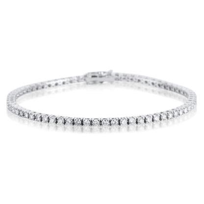 18 kt fehérarany karkötő 79 gyémánttal 5A303W8-3