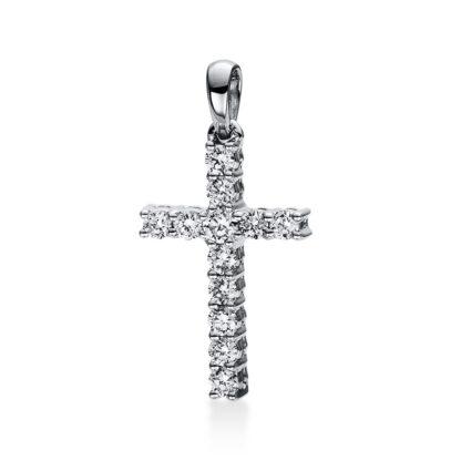 18 kt fehérarany medál 12 gyémánttal 3D816W8-4