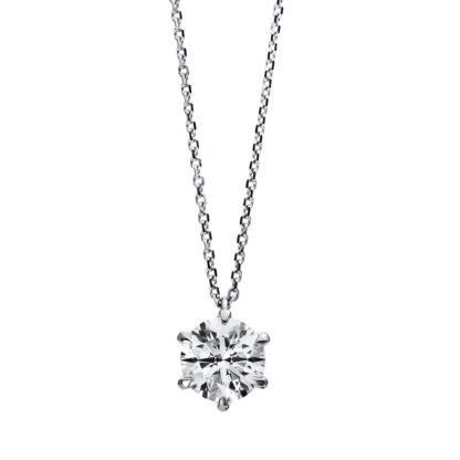18 kt fehérarany nyaklánc 1 gyémánttal 4C958W8-10